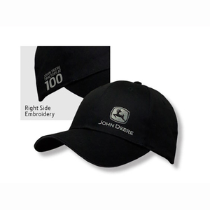 Men's 100th Anniversary Black Side Logo Cap
