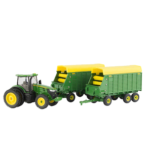 1/64 7290R Tractor with Forage Wagons