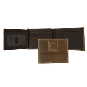 Crazy Horse Embossed Bi-Fold Wallet