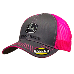 Toddler Charcoal and Neon Pink Hat