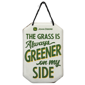 Grass is Greener on my Side Metal Sign