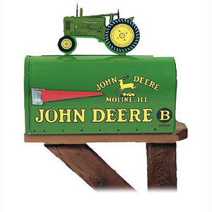 Patio garden outdoor for the home john deere products rural style mailbox with tractor topper model b aloadofball Image collections