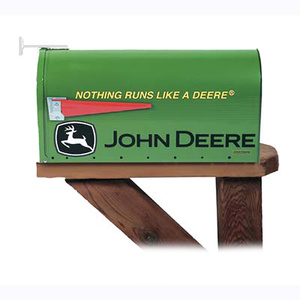 John Deere Rural Style Mailbox - Nothing Runs Like A Deere