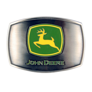 John Deere Enamel Pewter Belt Buckle