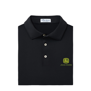 Peter Millar Men's Black Solid Performance Polo