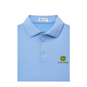 Peter Millar Men's Blue Solid Performance Polo