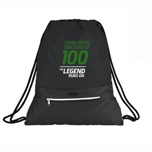 100 Year of the Tractor Black Cinch Bag
