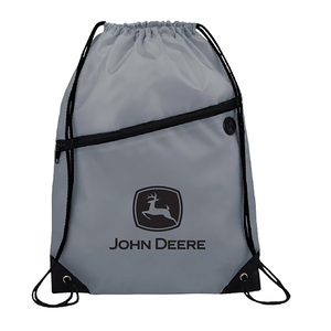 Gray and Black Cinch Backpack