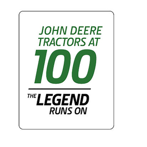 100 Year of the Tractor White Lapel Pin