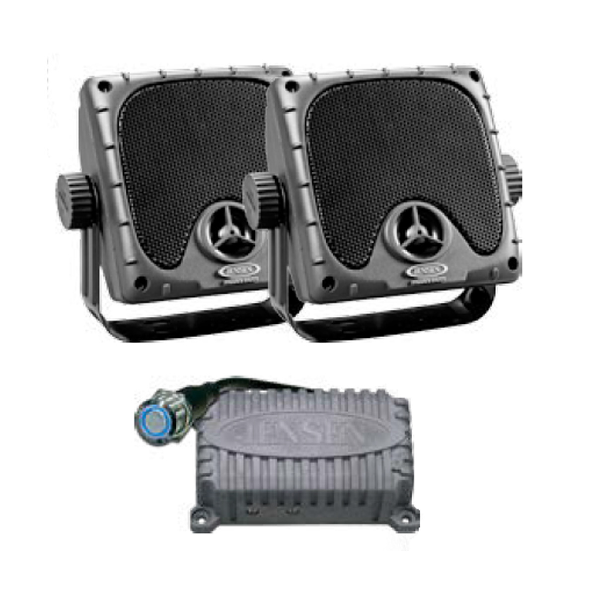 Weatherproof Amplifier and Heavy Duty Mini Speakers