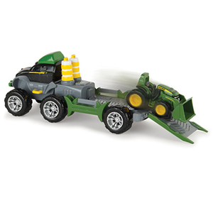 Mighty Movers Semi With Front Loader Tractor