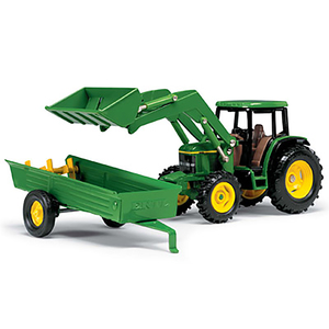 1/32 M6 6210 Tractor with Loader and Spreader