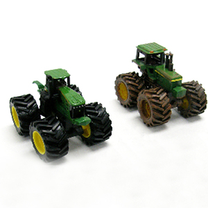 John Deere Muddy Vinage and 4WD Tractors