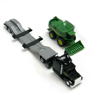 1/64 Scale John Deere Semi with Combine