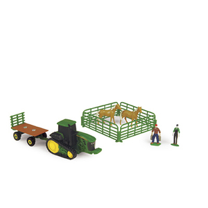 Farm Set with Hay Wagon & Light Horses