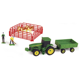 Farm Set With Barge Wagon & Guernsey Cows