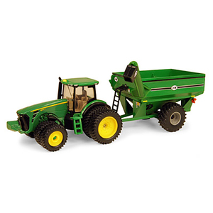 1/64 Scale 8320R Tractor with Grain Cart