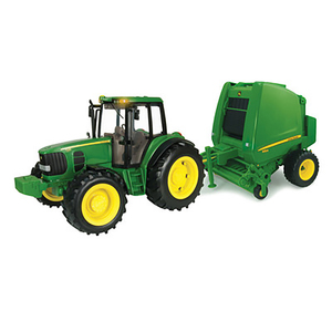 1/16 Big Farm Tractor with Baler Set