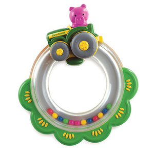 Infant Tractor Ring Rattle