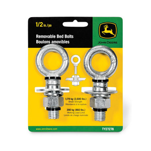 "Removable Bed Bolts, 1/2"", Zinc, 2-Pack"