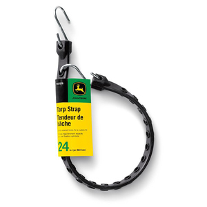 Adjustable Length Rubber Tarp Strap with S-Hooks, 24""