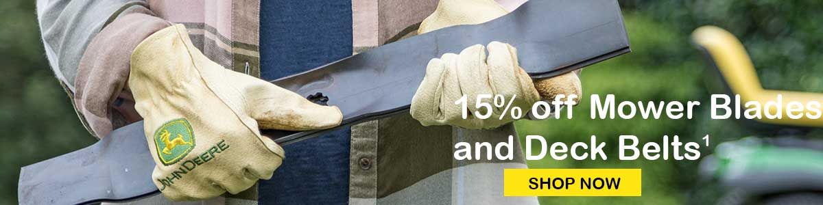 15% Off Mower Blades and Deck Belts
