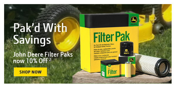 10% Off Filter Pak's for Compact Utility Tractors