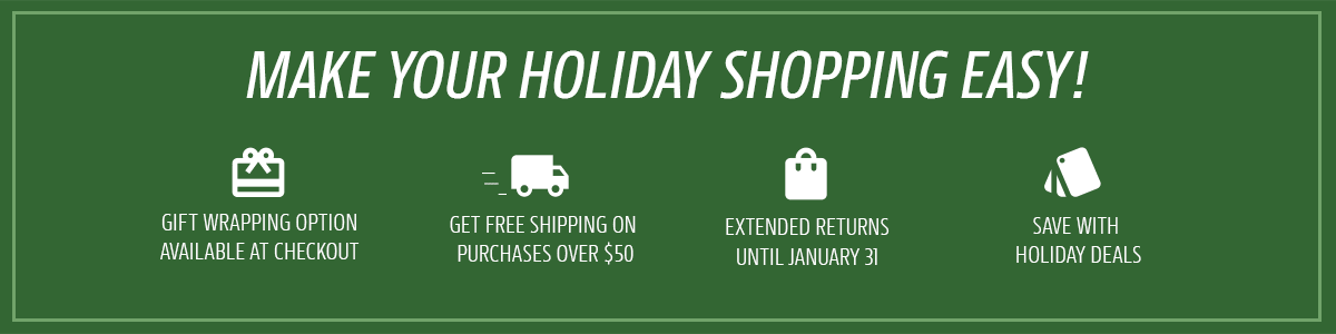 Make your Holiday shopping easy!